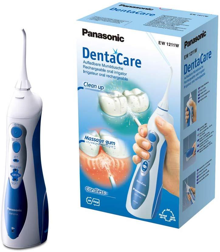 Panasonic - EW1211W845 - Hydropulseur DentaCare - Jet dentaire rechargeable - Portable et Ergonomique